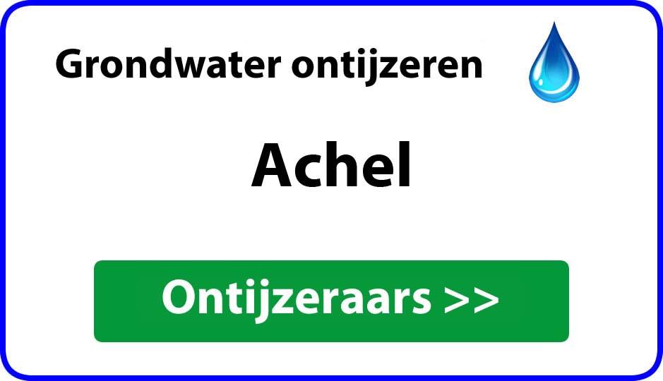 Ontijzeraar ijzer in grondwater Achel