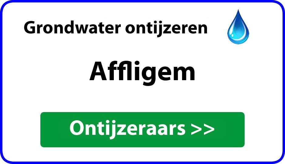 Ontijzeraar ijzer in grondwater Affligem