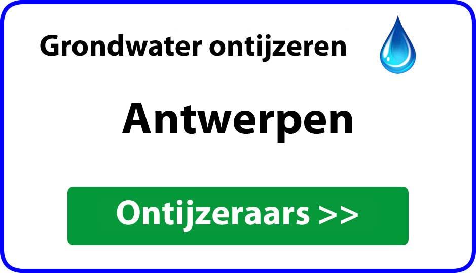 ontijzeraar ijzer in grondwater Antwerpen