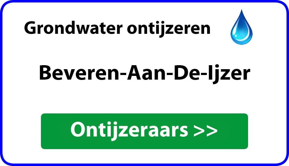 Ontijzeraar ijzer in grondwater Beveren-Aan-De-Ijzer