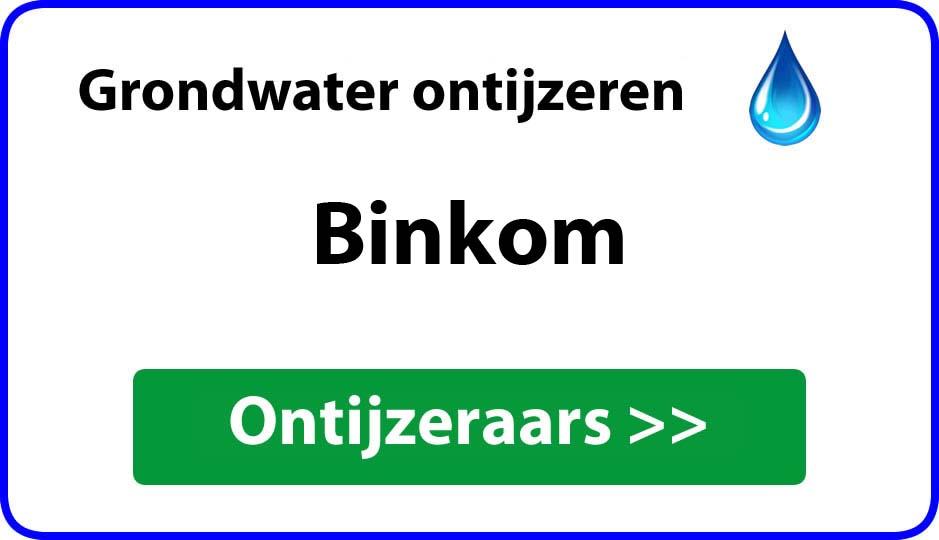Ontijzeraar ijzer in grondwater Binkom