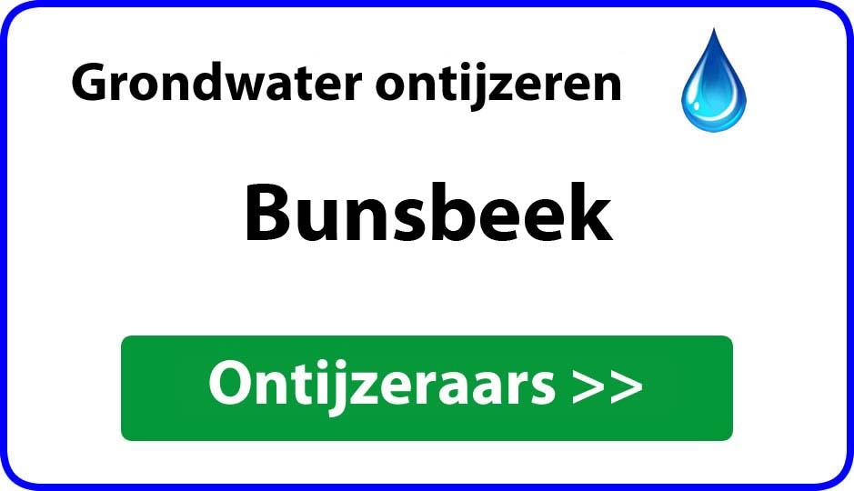 Ontijzeraar ijzer in grondwater Bunsbeek