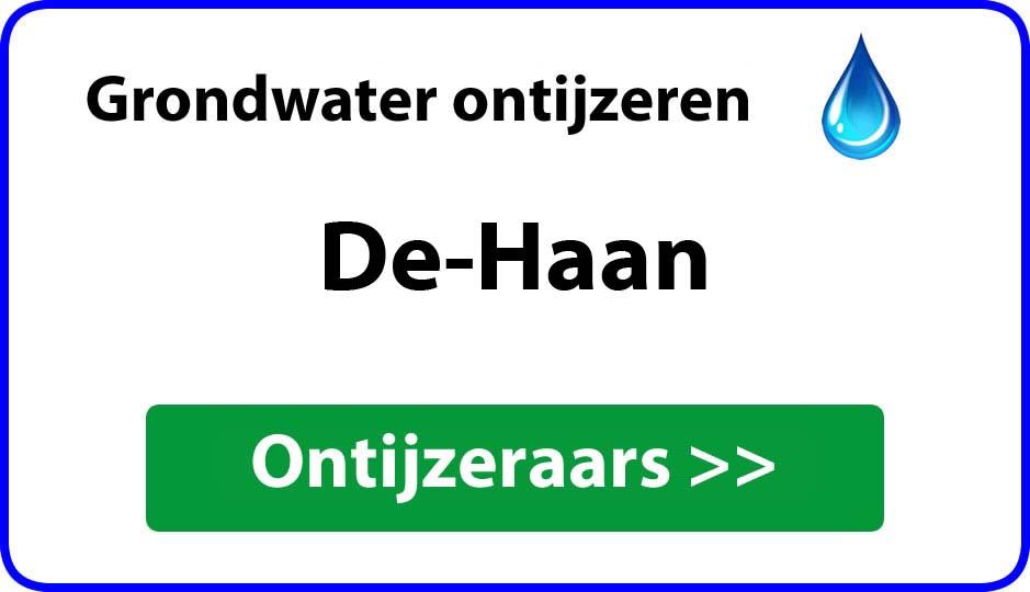 Ontijzeraar ijzer in grondwater De Haan