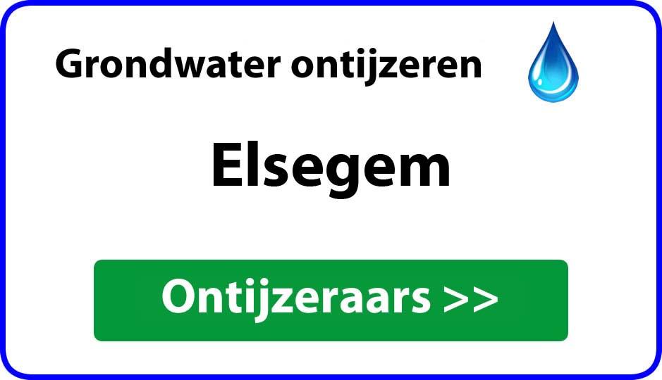 Ontijzeraar ijzer in grondwater Elsegem