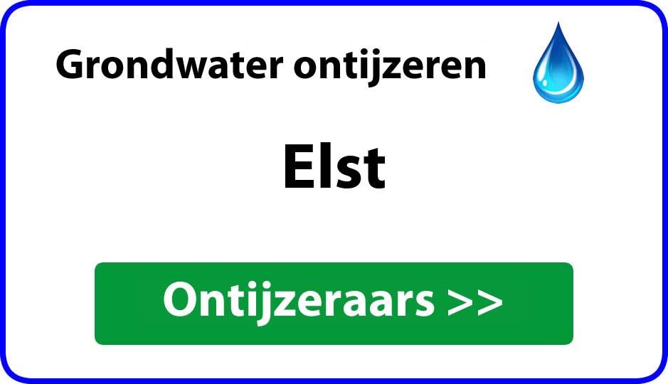 Ontijzeraar ijzer in grondwater Elst