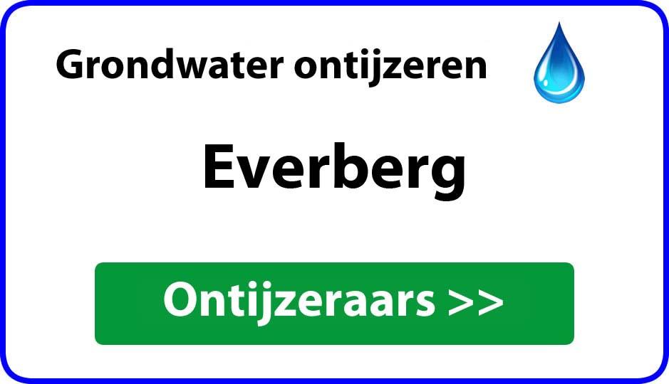 Ontijzeraar ijzer in grondwater Everberg