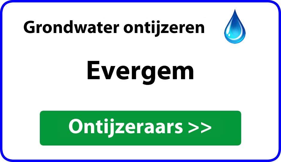 Ontijzeraar ijzer in grondwater Evergem
