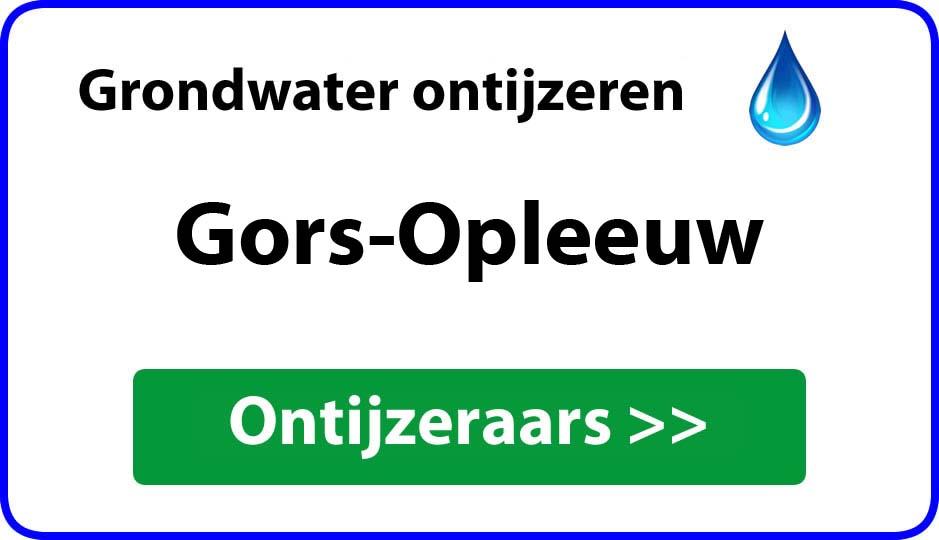 Ontijzeraar ijzer in grondwater Gors-Opleeuw