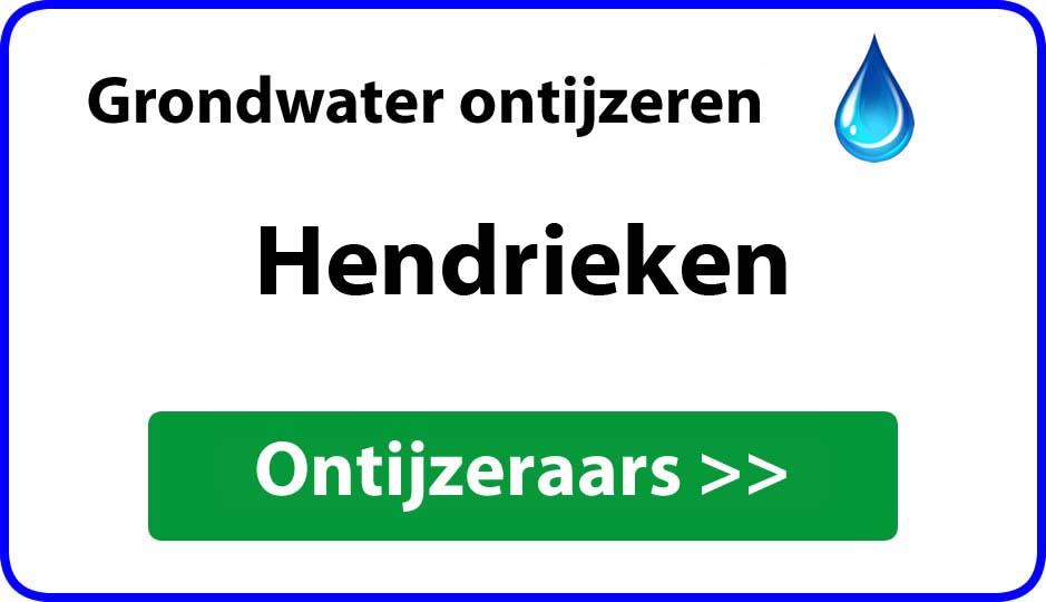 Ontijzeraar ijzer in grondwater Hendrieken