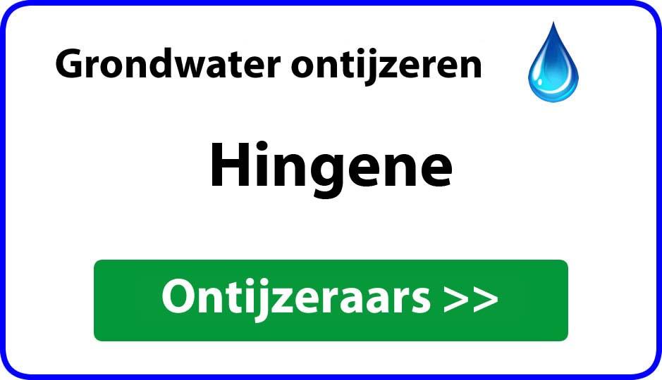 Ontijzeraar ijzer in grondwater Hingene