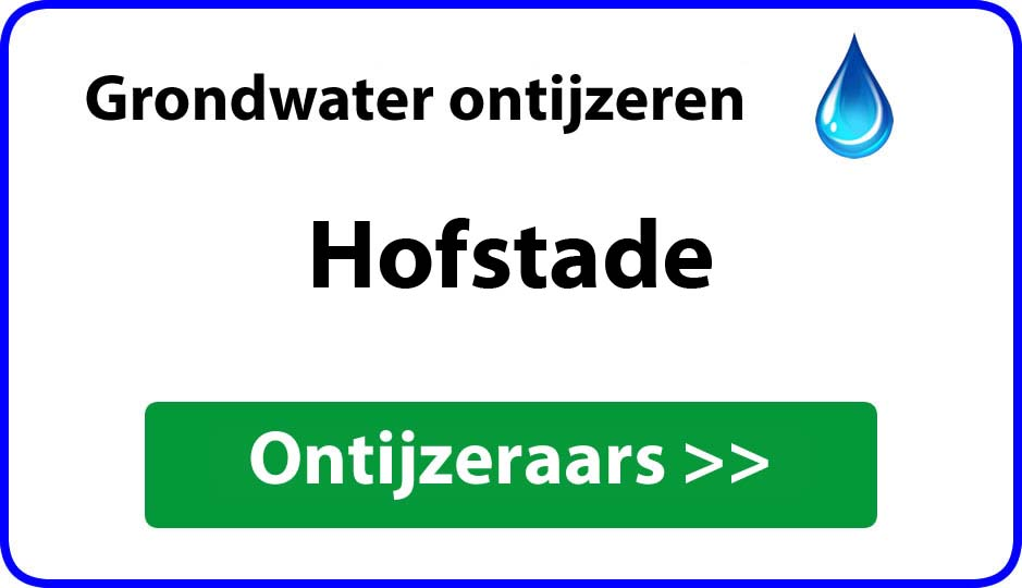 Ontijzeraar ijzer in grondwater Hofstade