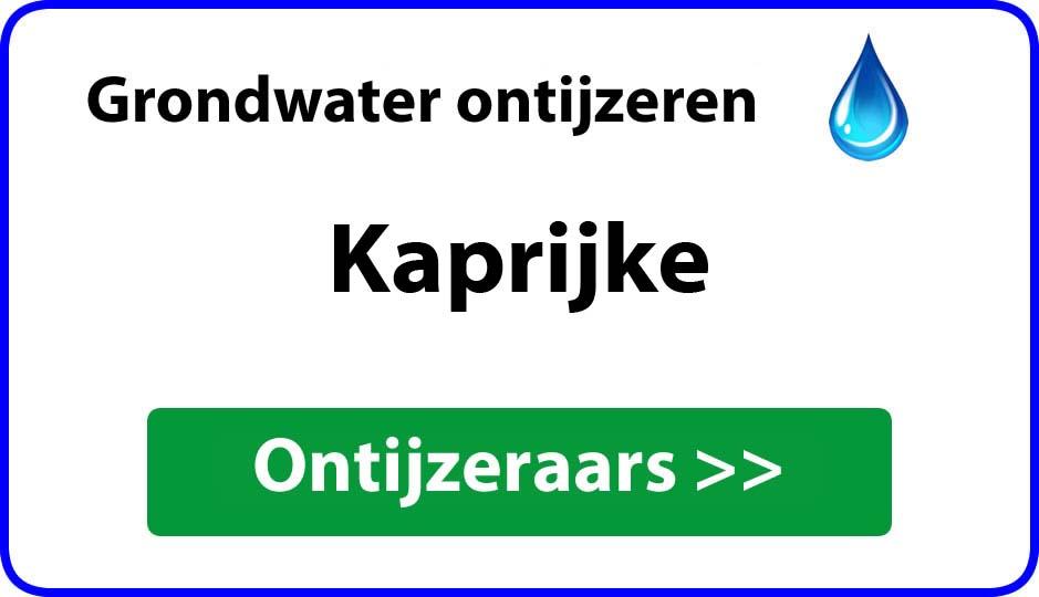 Ontijzeraar ijzer in grondwater Kaprijke