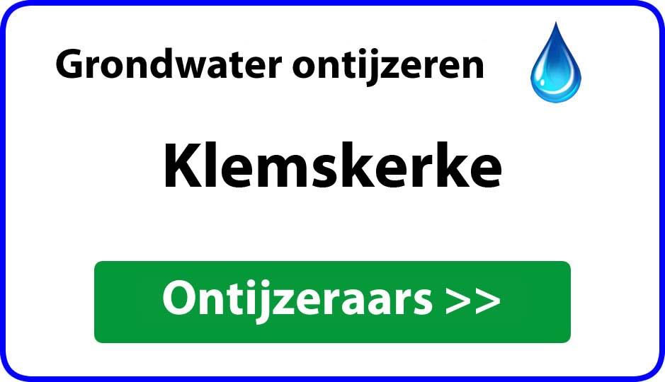 Ontijzeraar ijzer in grondwater Klemskerke