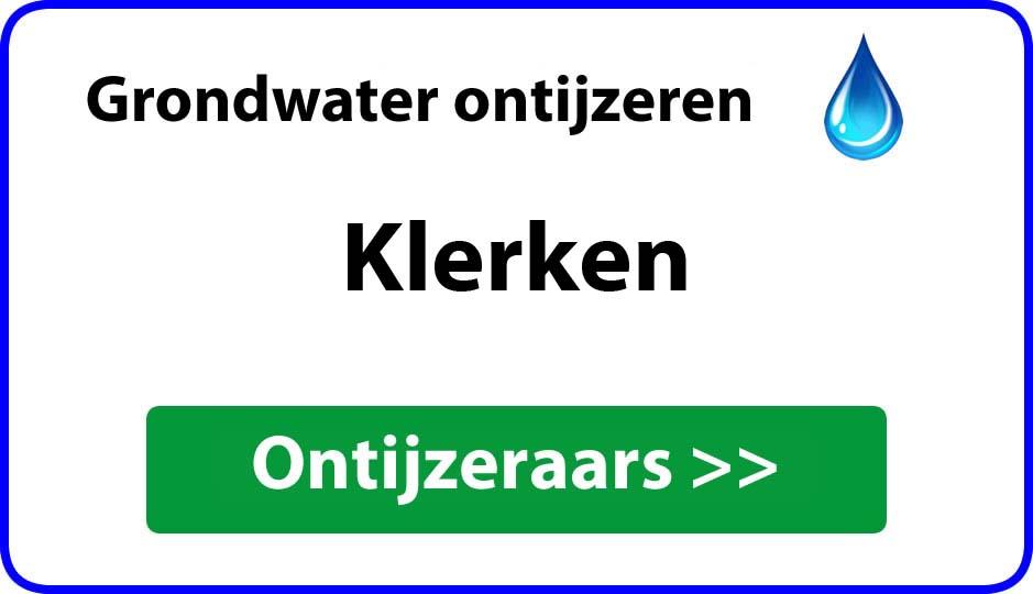 Ontijzeraar ijzer in grondwater Klerken