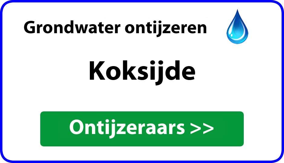 Ontijzeraar ijzer in grondwater Koksijde