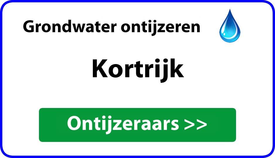 Ontijzeraar ijzer in grondwater Kortrijk