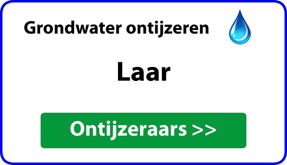 Ontijzeraar ijzer in grondwater Laar