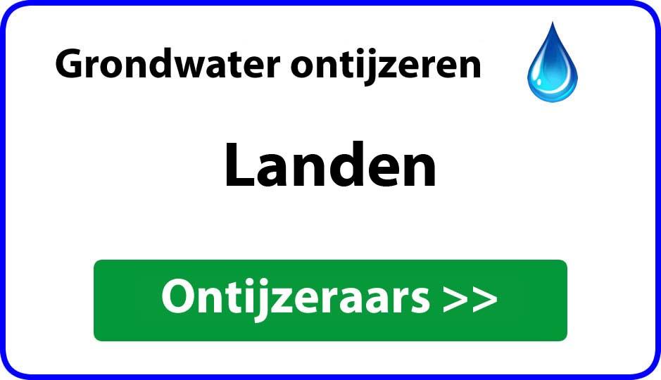 Ontijzeraar ijzer in grondwater Landen