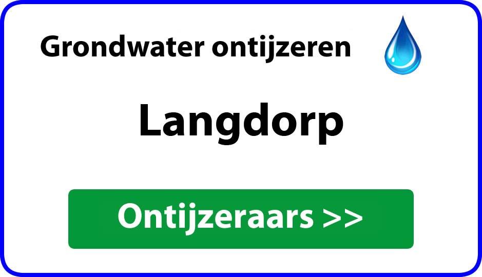 Ontijzeraar ijzer in grondwater Langdorp