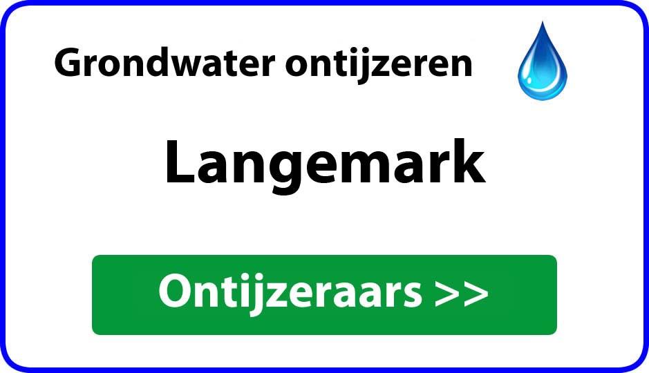 Ontijzeraar ijzer in grondwater Langemark