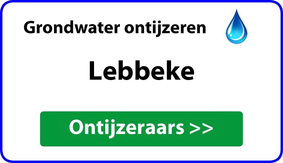 Ontijzeraar ijzer in grondwater Lebbeke