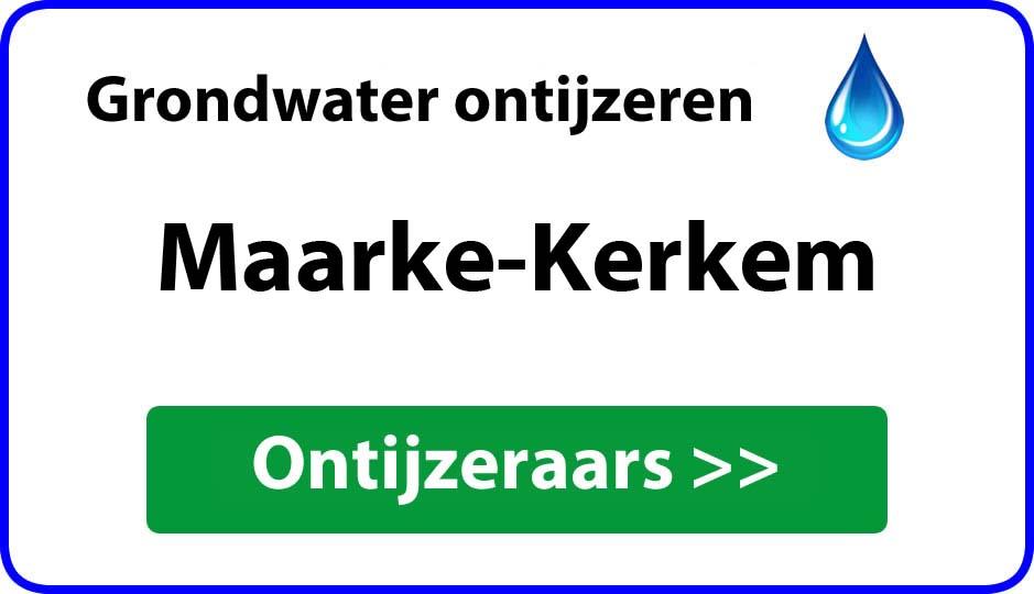 Ontijzeraar ijzer in grondwater Maarke-Kerkem