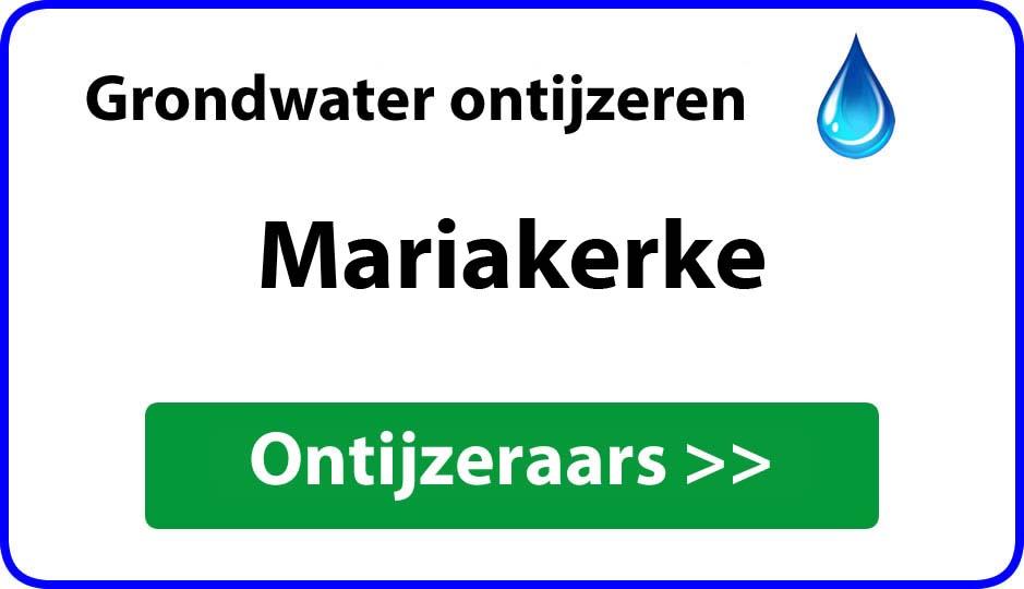 Ontijzeraar ijzer in grondwater Mariakerke