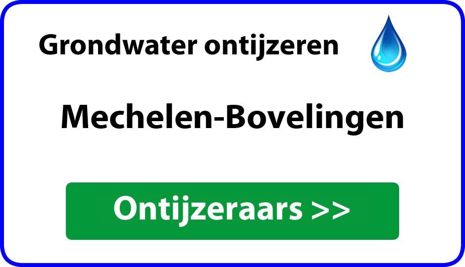 Ontijzeraar ijzer in grondwater Mechelen-Bovelingen