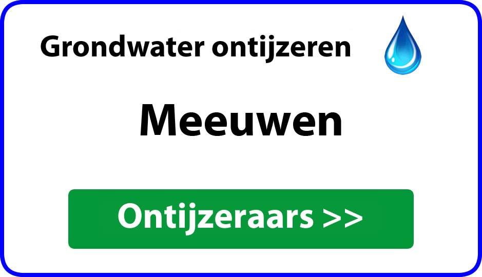 Ontijzeraar ijzer in grondwater Meeuwen
