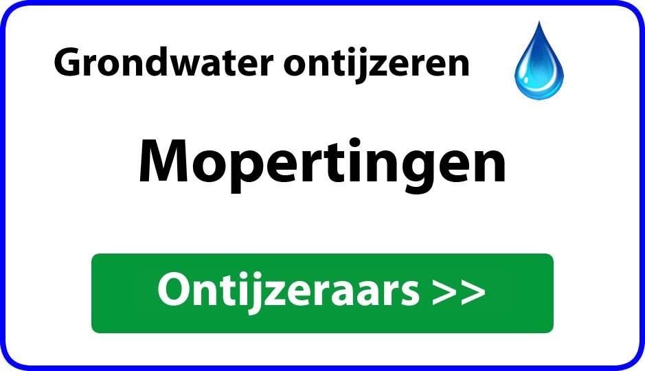 Ontijzeraar ijzer in grondwater Mopertingen
