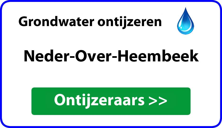 Ontijzeraar ijzer in grondwater Neder-Over-Heembeek