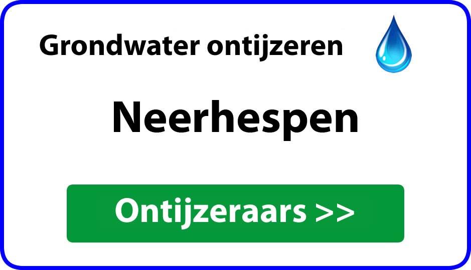 Ontijzeraar ijzer in grondwater Neerhespen