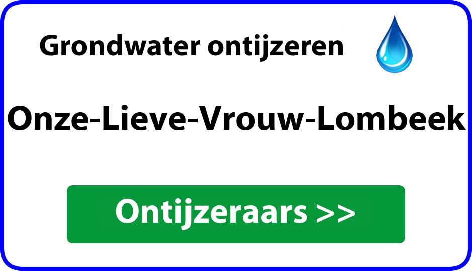 Ontijzeraar ijzer in grondwater Onze-Lieve-Vrouw-Lombeek