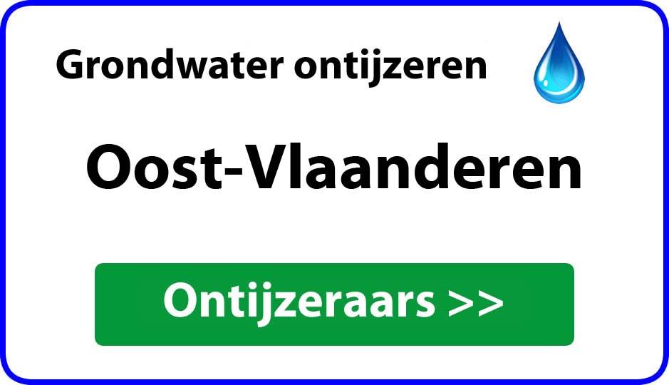 ontijzeraar ijzer in grondwater Oost-Vlaanderen