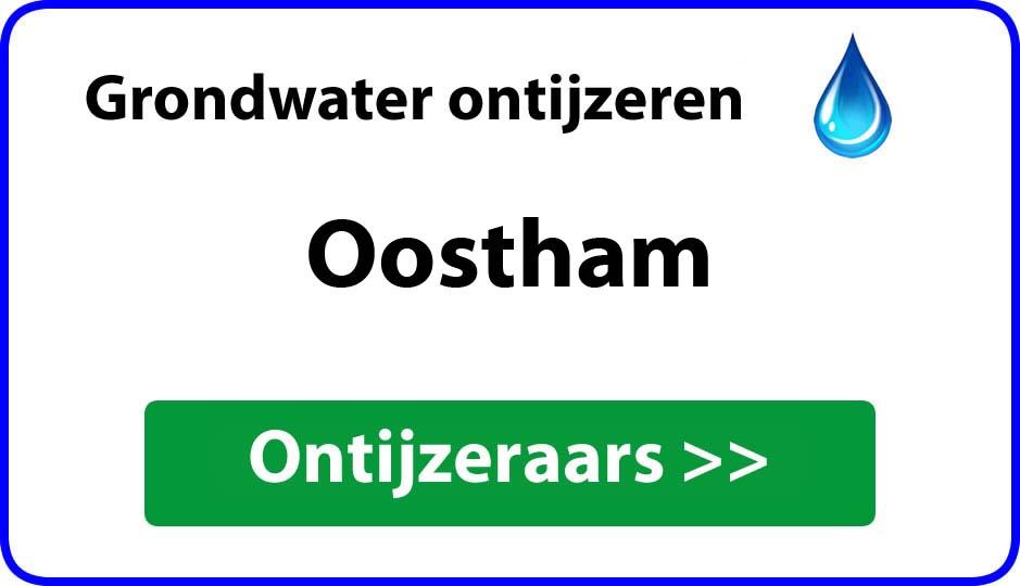 Ontijzeraar ijzer in grondwater Oostham