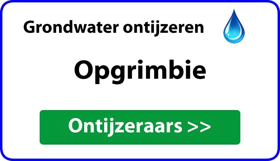 Ontijzeraar ijzer in grondwater Opgrimbie