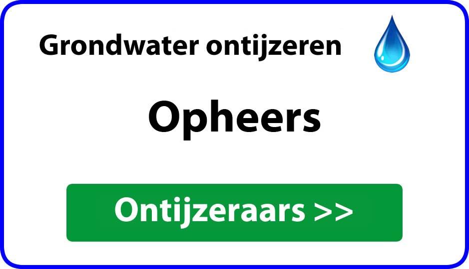 Ontijzeraar ijzer in grondwater Opheers