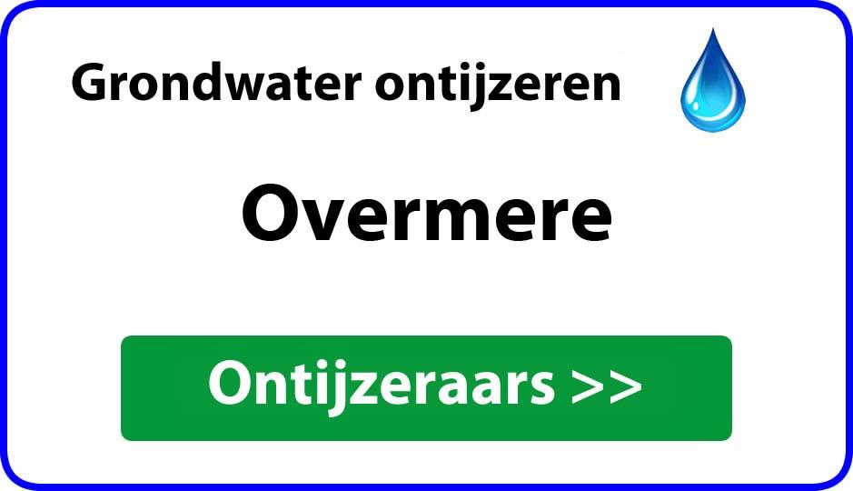 Ontijzeraar ijzer in grondwater Overmere