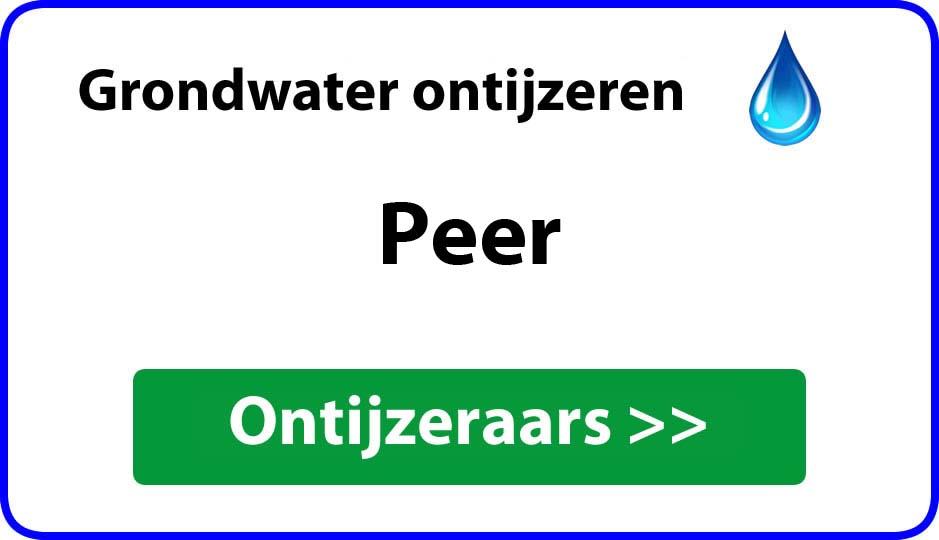 Ontijzeraar ijzer in grondwater Peer