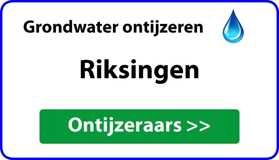 Ontijzeraar ijzer in grondwater Riksingen