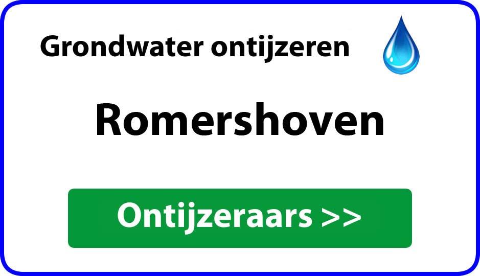Ontijzeraar ijzer in grondwater Romershoven
