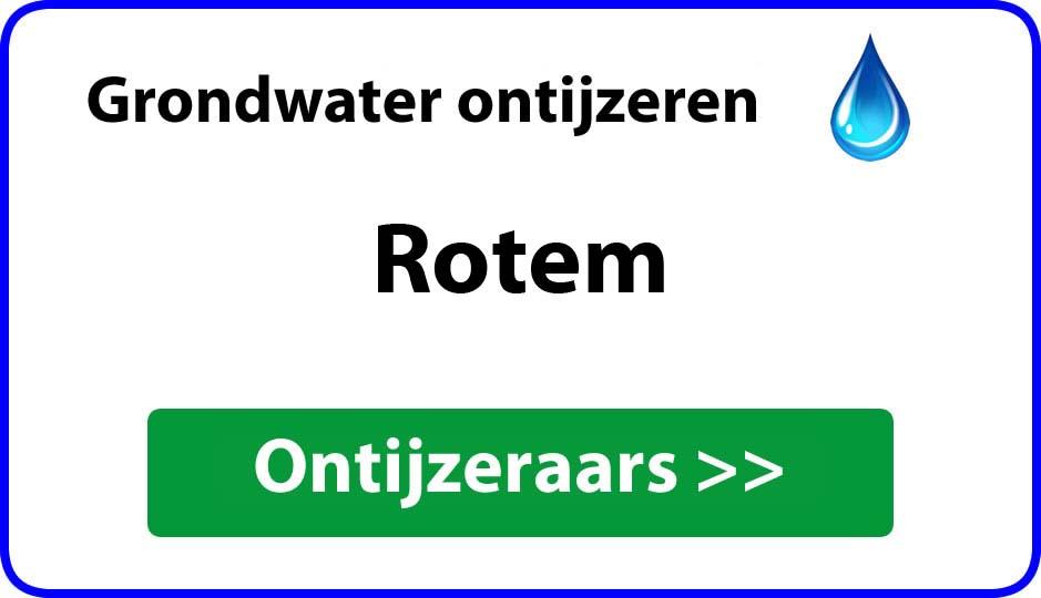 Ontijzeraar ijzer in grondwater Rotem