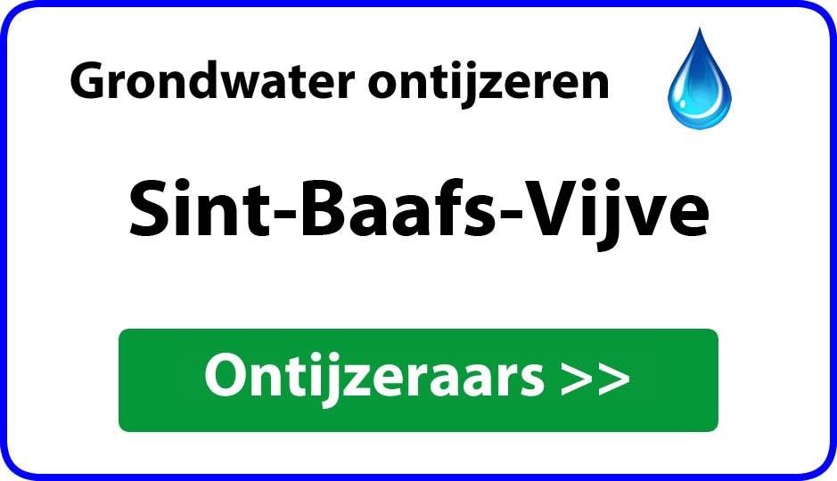 Ontijzeraar ijzer in grondwater Sint-Baafs-Vijve