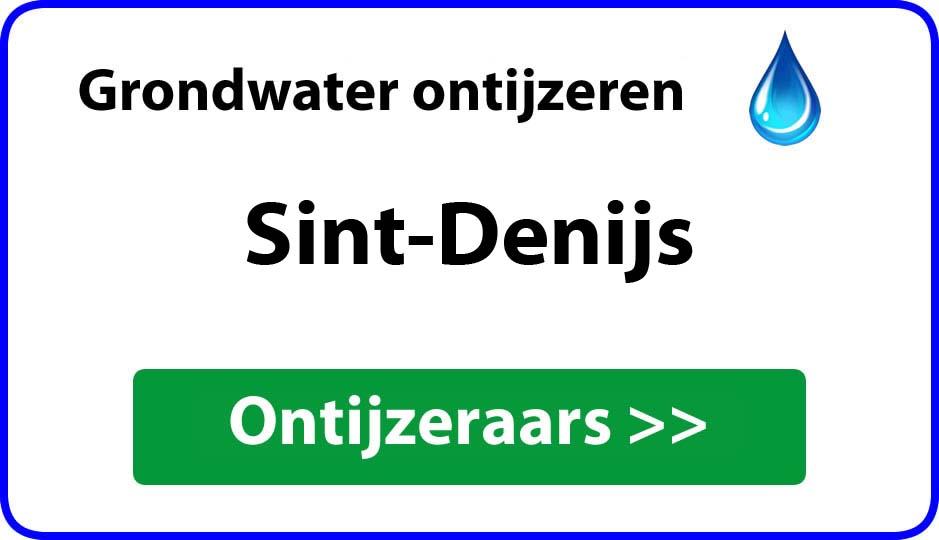 Ontijzeraar ijzer in grondwater Sint-Denijs