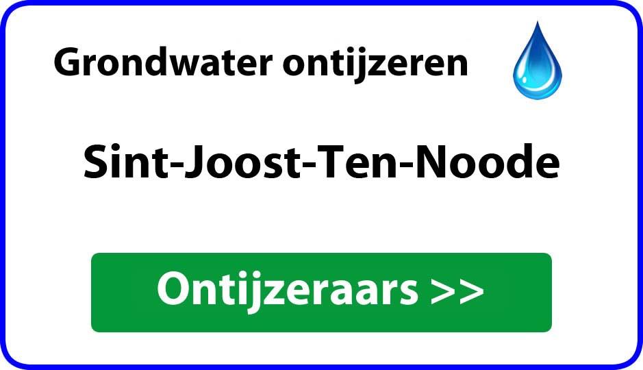 Ontijzeraar ijzer in grondwater Sint-Joost-Ten-Noode
