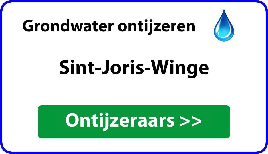 Ontijzeraar ijzer in grondwater Sint-Joris-Winge