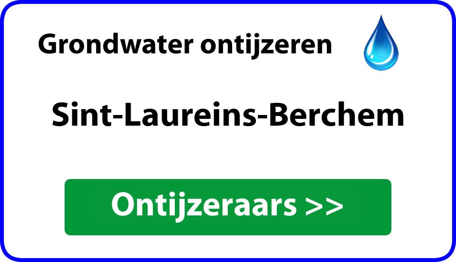 Ontijzeraar ijzer in grondwater Sint-Laureins-Berchem