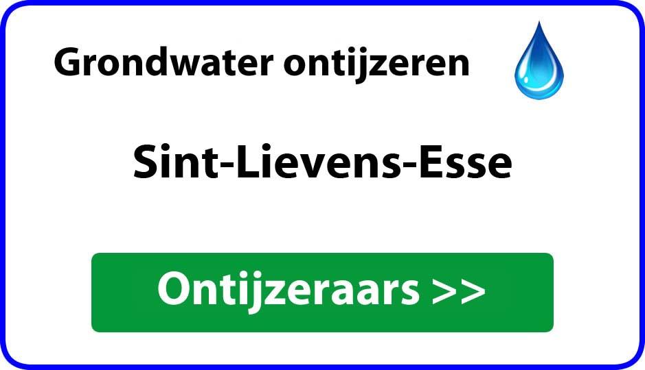 Ontijzeraar ijzer in grondwater Sint-Lievens-Esse