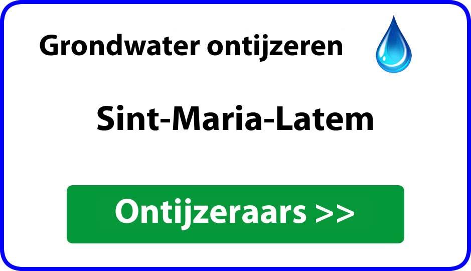 Ontijzeraar ijzer in grondwater Sint-Maria-Latem