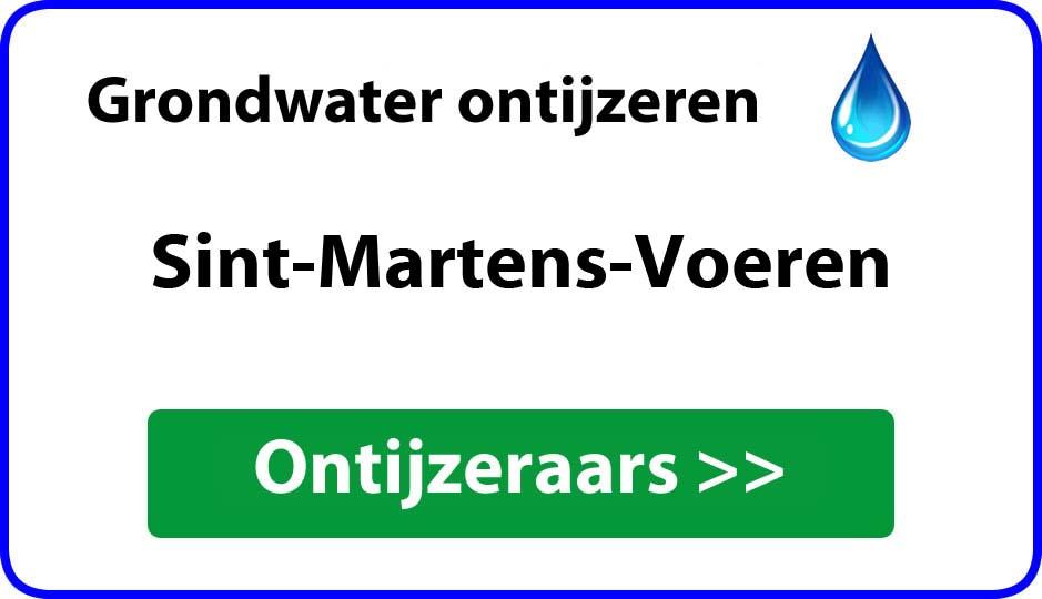Ontijzeraar ijzer in grondwater Sint-Martens-Voeren